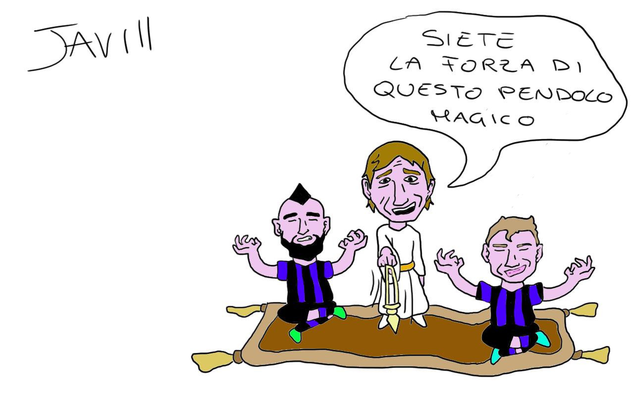 VIDAL PIU BARELLA ORA L INTER SI GODE IL PENDOLO MAGICO