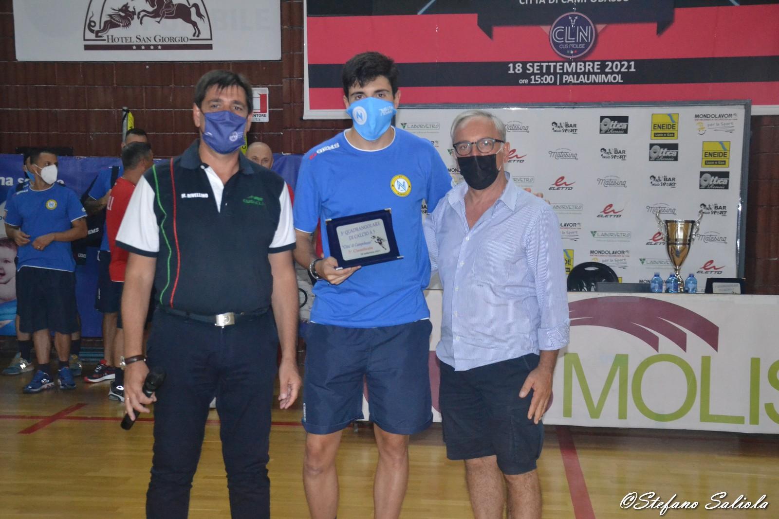La premiazione del Napoli C5